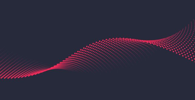 Background image of red dots in a horizontal helix shape